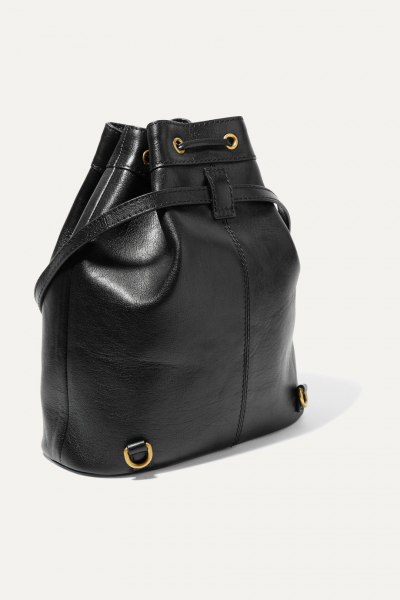 Re(Belle) Convertible Textured-Leather Bucket Bag